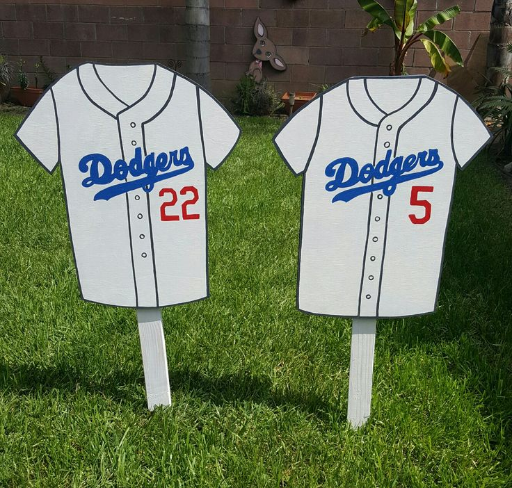 Dodgers Jersey Lawn Signs