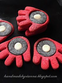 Hand Made By Rianna: Super hero party: Iron Man Biscuit Cookies