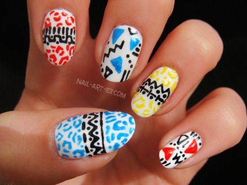 94 best african inspired nails images on pinterest africans i saw these nails as part of a photoshoot for front magazine and i loved them imagine my surprise at seeing nail art prinsesfo Images