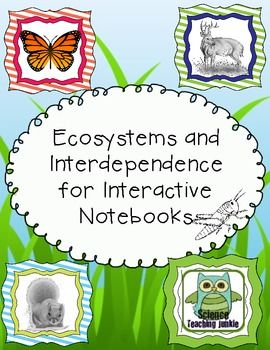 This PDF includes 32 full pages of various flippables, graphic organizers and activities designed for an Interactive Science Notebook to be used during a unit on Ecosystems and Interdependence. (5 pages are teacher answer keys).   Most foldables and flippables are left blank on the inside.