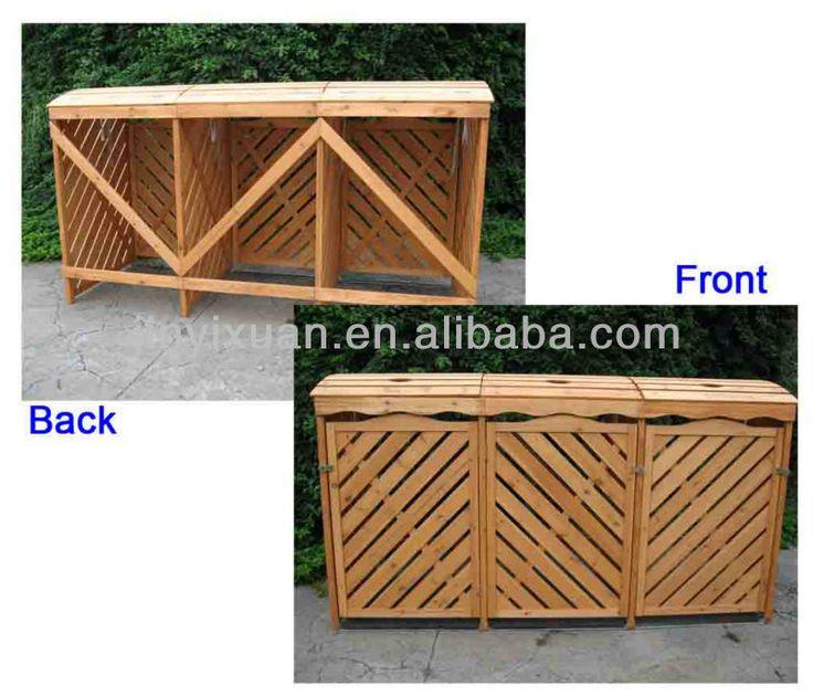 Esterno in legno pattumiera casella spazzatura bidone - Porta spazzatura differenziata ...