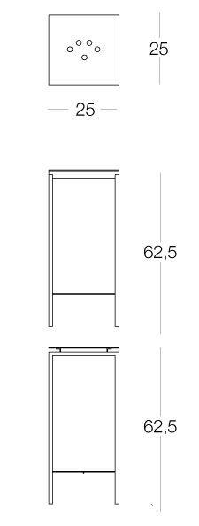 Sgabello in metallo, di altezza adeguata per i piani di lavoro, in metallo  cromato, oro, nichel o laccato, made in italy dal design minimale e  contemporaneo