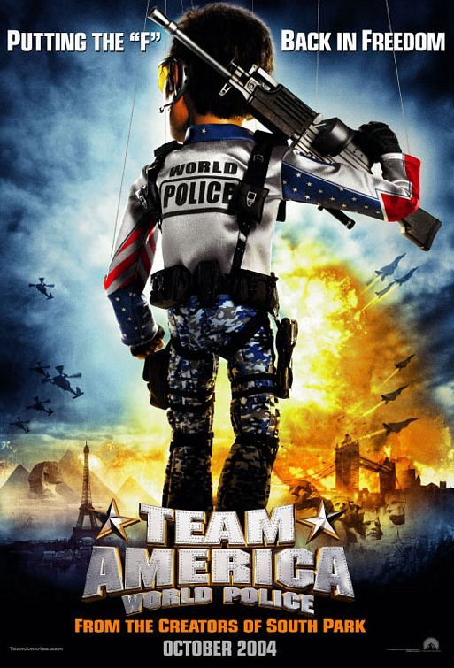 Team America World Police.Movie Posters, Picture-Black Posters, Posters Prints, Action Comedy, Film Posters, Comedy Movie, Team America, Police 2004, Posters 2004