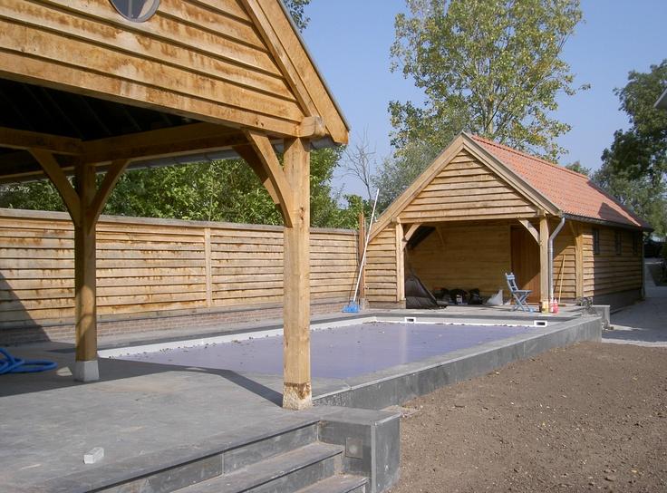 Eiken eikenhout eikenhouten bijgebouw bijgebouwen for Zwembad zelfbouwpakket