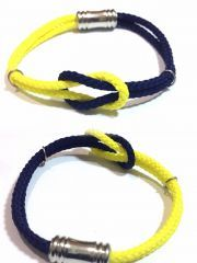 Unisex Sarı Lacivert Bileklik (bayan - erkek)