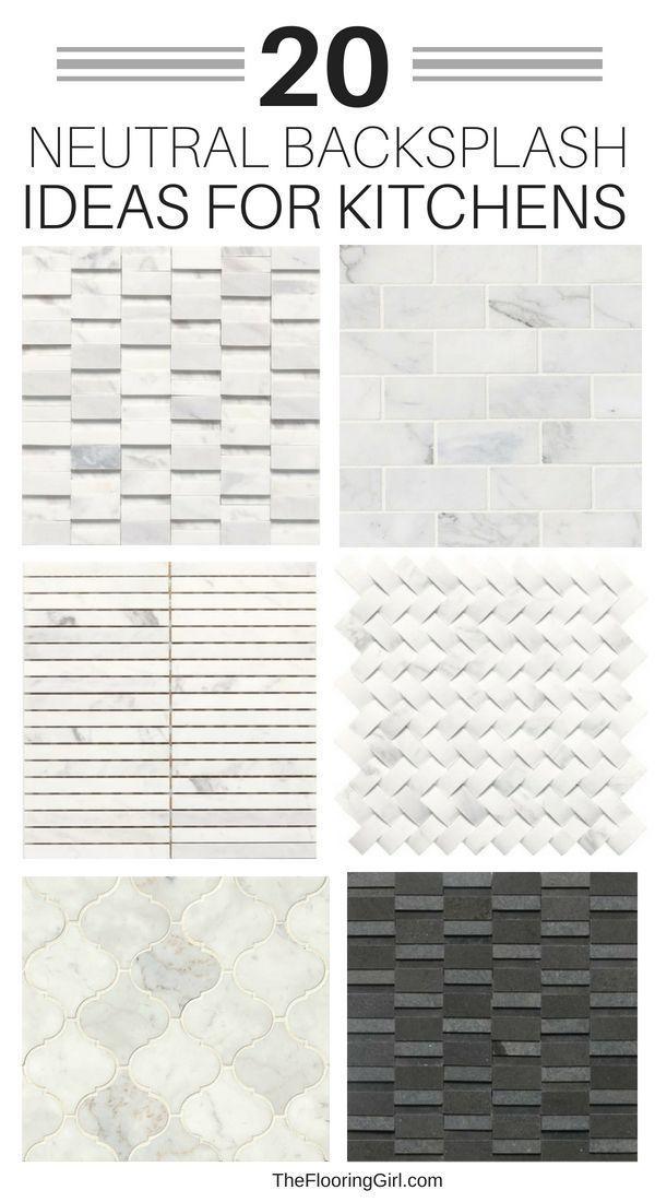 20 Neutral Backsplash Tiles For Kitchens Kitchen Backsplash