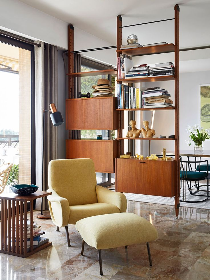 The Timeless Luxury of Grace Apartment in Monaco by Humbert & Poyet. Room  DividersRoom Divider ShelvesShelf ...