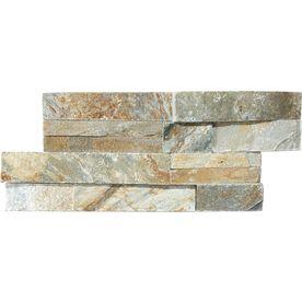 Desert Quartz Ledgestone Natural Stone Indoor/Outdoor Wall Tile (Common: 6-in x 12-in; Actual: 5.9-in x 11.81-in)