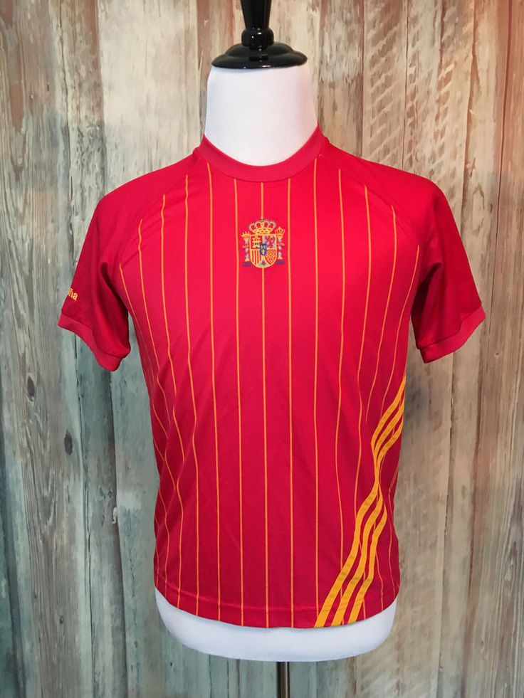 FIFA 2006 Adidas World Cup Germany Spain Jersey Espana Futbol Soccer Red M EUC! #adidas #Spain