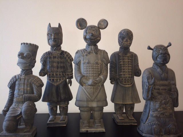 Build Yourself A Pop Culture Terracotta Army Of Barts And Batmen With This Artist's Statues | Co.Create | creativity + culture + commerce