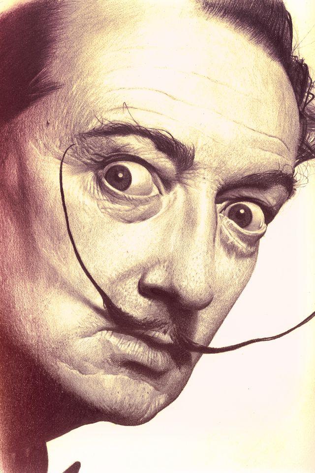 Salvador Dali - pencil drawing by Adrian Kolozs