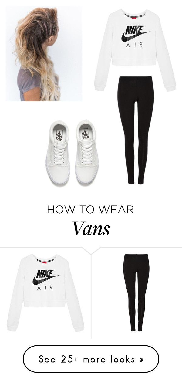 """""""gym"""" by haleycat33 on Polyvore featuring NIKE and Vans"""