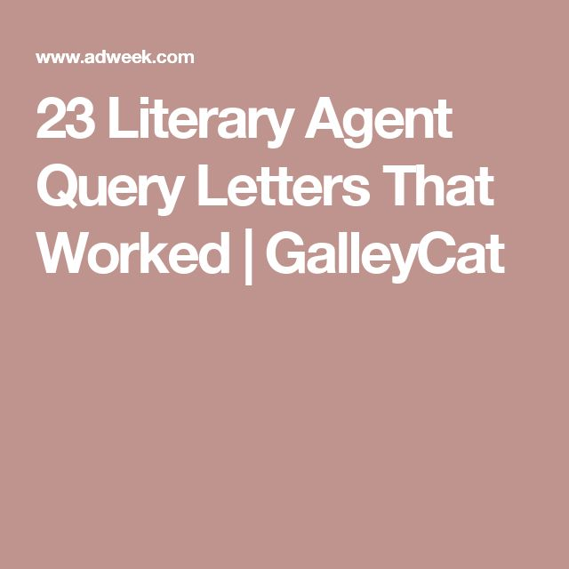 31 best manuscripts query letters images on pinterest books 23 literary agent query letters that worked galleycat thecheapjerseys Images
