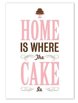 Home is where the cake is