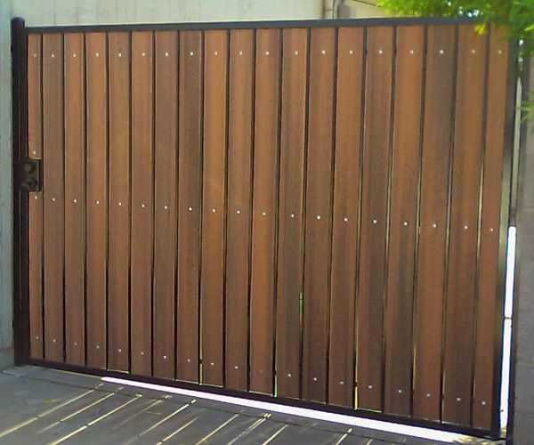 wood and metal driveway gates DIY - Google Search