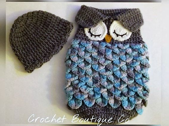 Crochet Owl Baby Bunting Pattern : 70 best images about Products I Love on Pinterest Plugs ...