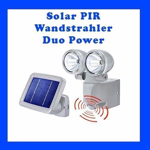 Solar LED  Wanstrahler DUO POWER mit Bewegungsmelder  Solarstrahler  102415