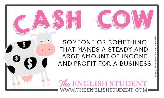 Business English Meaning of cash cow www.theenglishstudent.com
