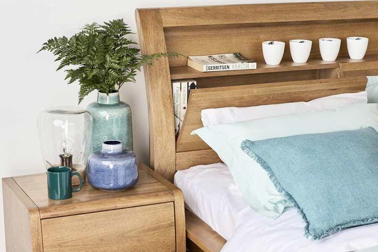 Linden Queen Timber Bed   Bedshed