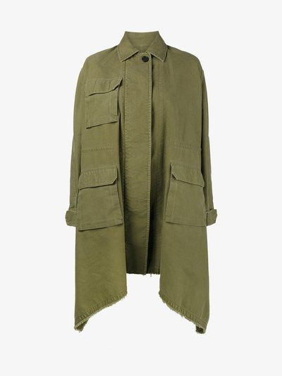 Valentino long caban parka coat