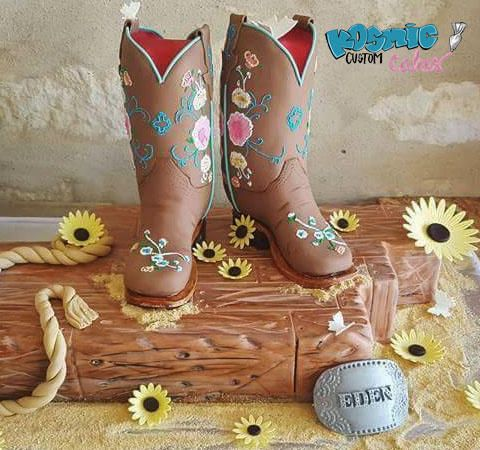 Texas Cowgirl Boots by Kosmic Custom Cakes | Cakes & Cake ...
