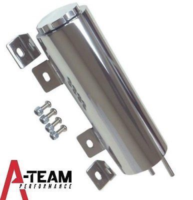 "3""""X 9""""Inch Stainless Radiator Coolant Overflow Reservoir Tank w/ Twist Cap Universal Fit Chevy GMC Dodge Ford Mopar"