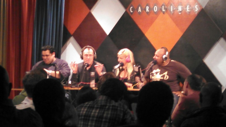 . ChilltownTV star Dante Nero with his great Beige Phillip Show (including Colin Quinn!!!)  at Caroline's Comedy club 3/27/13.