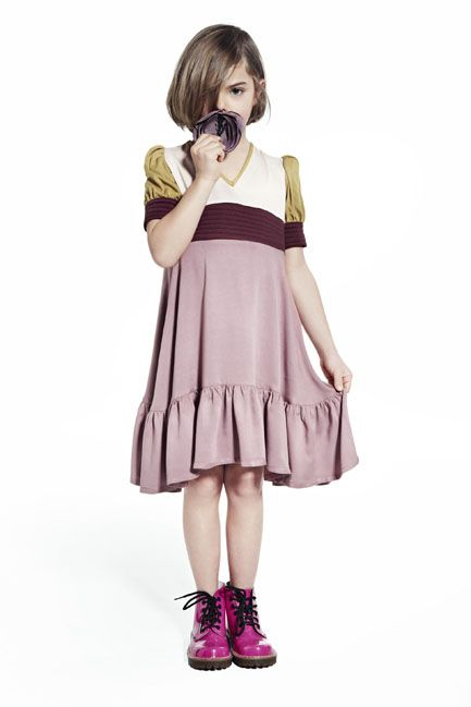 Dress from Talc with Pink Dr Martens