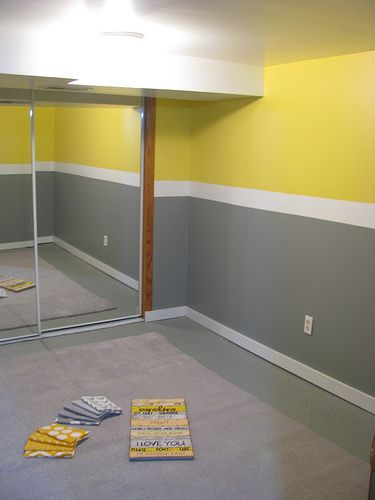 Yellow And Grey I Am Thinking Vertical Stripes Rather Than Horizontal Nursery Pinterest Room Bedroom Gray