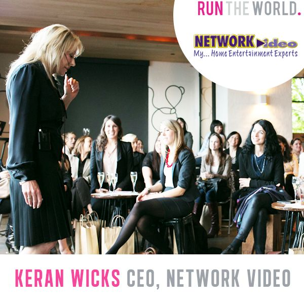 Run The World Female Entrepreneur Conference - Oct 25 2014 Melbourne Australia.   Keran Wicks, CEO of The Network Video  www.runtheworld.com.au