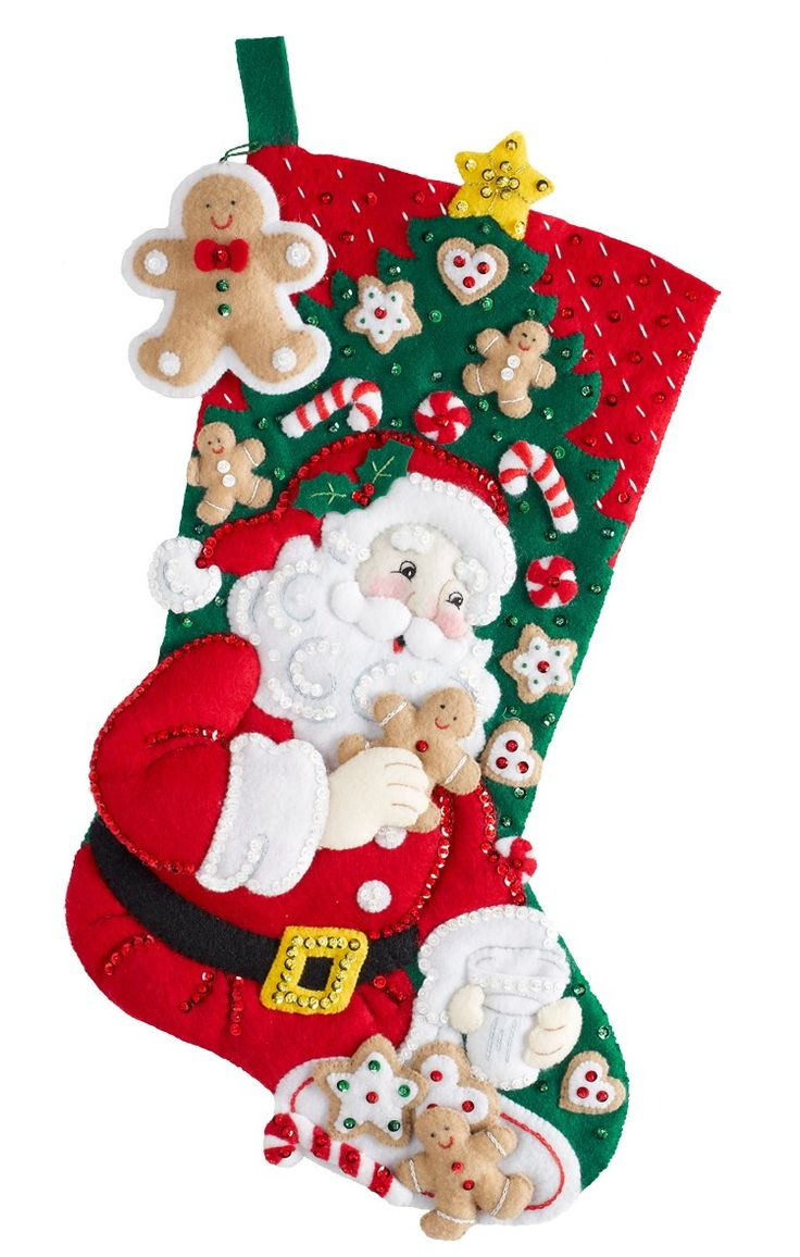 Santa's Snack Time is a new release Bucilla felt stocking kit available from MerryStockings.com in early January of 2016.