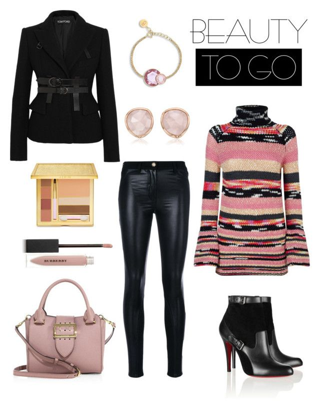 """""""Untitled #307"""" by joanna-tabakou on Polyvore featuring Versace, Burberry, Christian Louboutin, Missoni, Tom Ford, Monica Vinader and AERIN"""