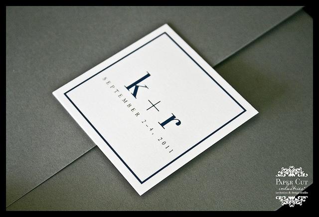 Iconic Wedding Logo #custom #papercutindustries #weddinginvitation #modern
