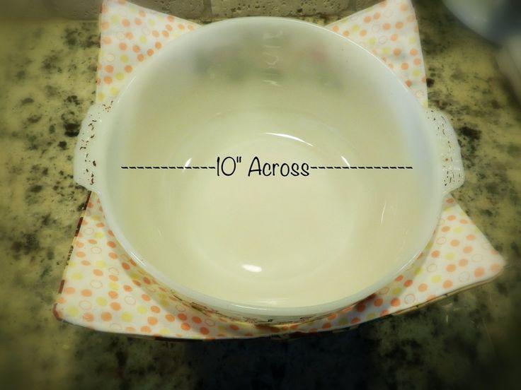 XL microwave bowl potholder tutorial