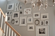 photo displays on stair wall - Google Search