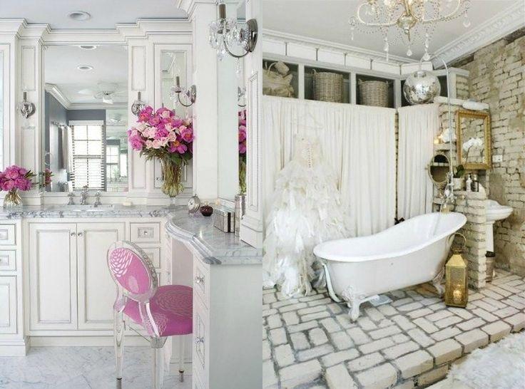 D co salle de bain romantique 33 id es pour tous les go ts acheter d co salle de bain - Salle de bain romantique ...