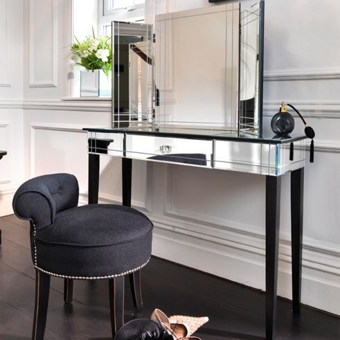 Black Orchid Art Deco Mirrored Furniture Collection
