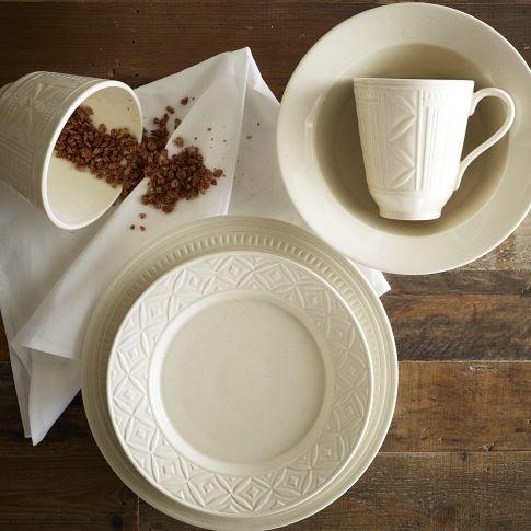 Loren Kaplan Dinnerware Set - Ivory | west elm saw it in nyc. loved it & 15 best Dinnerware images on Pinterest | Dish sets Dinnerware sets ...