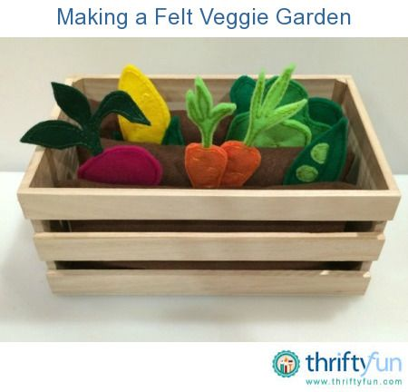 This is a guide about making a felt veggie garden. Your little one can garden rain or shine with this felt veggie garden. It would also be a fun gift for a gardening enthusiast.