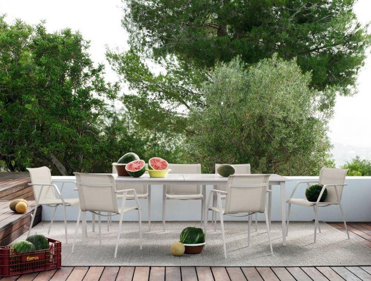 Dedon Wa Essstuhl, Dedon Armlehnstuhl, hochwertige Outdoor Gartenmöbel Wa von Villa Schmidt