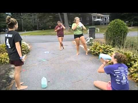 The girls did the rainbow milk challenge, Kam was the camera girl, Aaron was in the black shirt, Jacky was in the red/burgundy shirt, Macy was in the green shirt, and El was in the purple shirt. It was super gross, that is why Asher and I stayed in the house. ~Jack