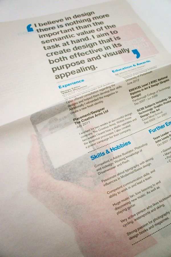 Creative CV in a print-edition (38.0) | Recruiting Roundtable NederlandCreative Cv