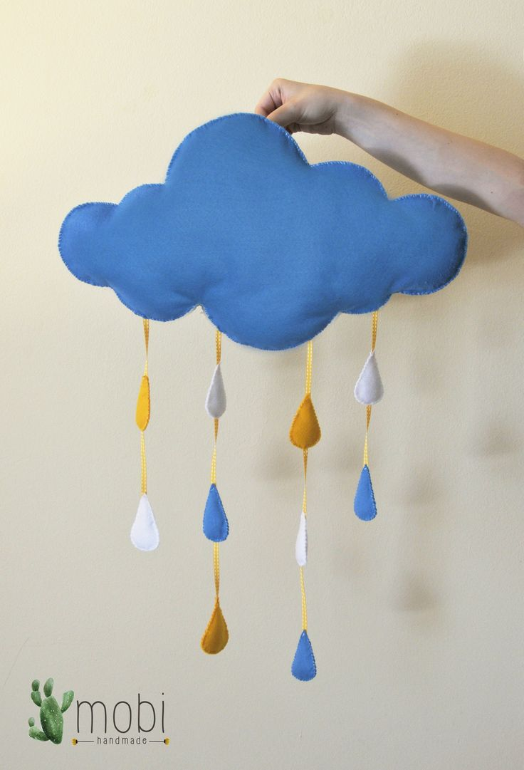 Large Handmade Hanging Raindrop Cloud | Hand-stitched Decorative Cloud | Nursery Decor | Kids room Decor | Baby shower gift | Home Decor  https://www.etsy.com/listing/400067639/large-handmade-hanging-raindrop-cloud?ref=listing-shop-header-3