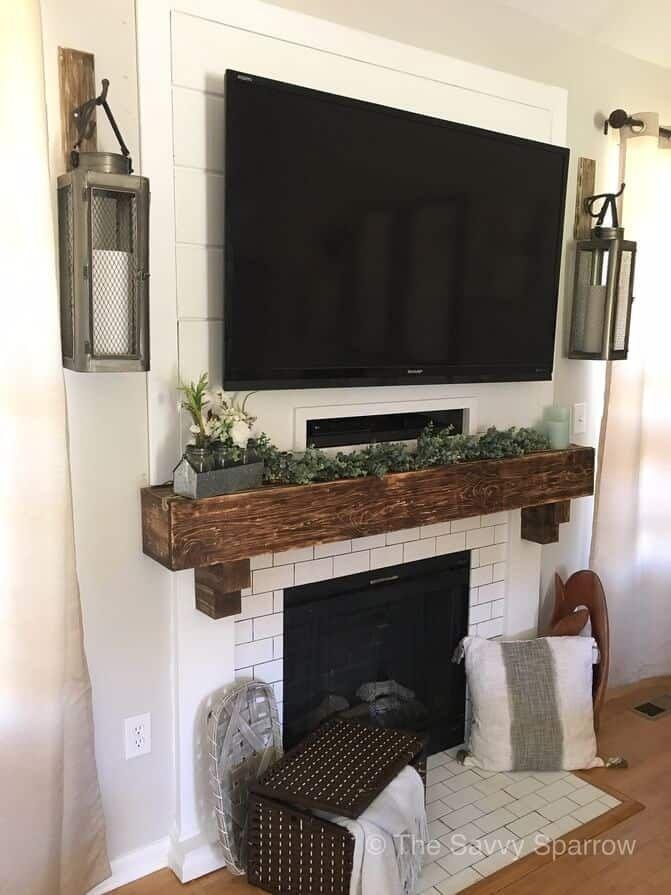How To Decorate Around A Tv Farm House Living Room Decor Around Tv Tv Decor