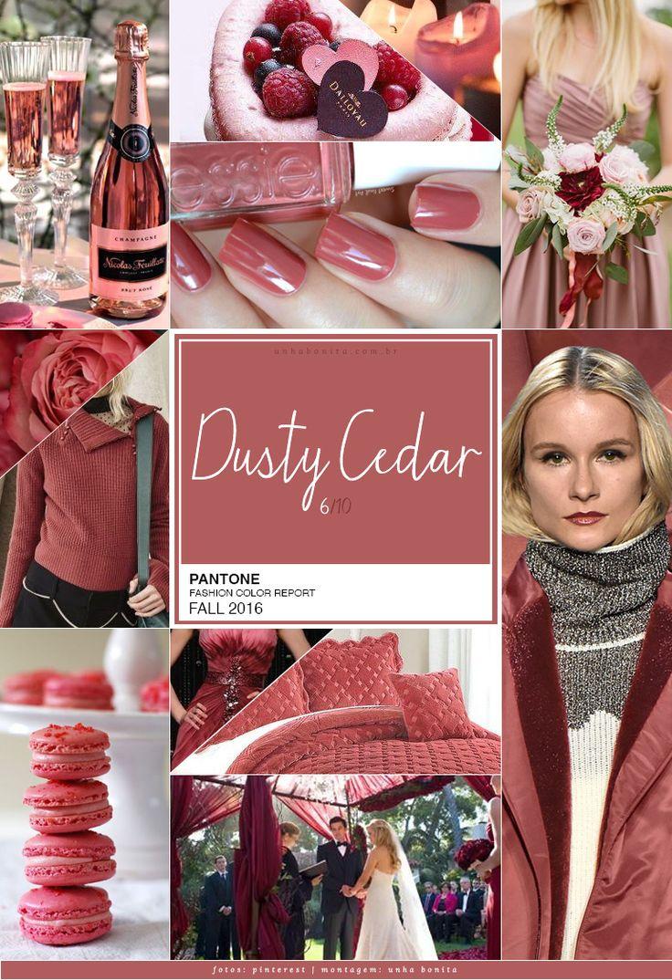 """Dusty Cedar – ou """"cedro empoeirado"""" – no ar! A 6a cor da Pantone Fall 2016 é aquele tom meio retrô, vintage e, claro, lindo de viver. Imaginem o Marsala só que mais clarinho e até mais rosado. Sim, rosa e é a própria Pantone que nos diz isso. Dusty Cedar PANTONE 18-1630 Remete à cor do ano Rose Quartz (post aqui) mas com toque empoeirado e sóbrio. Uma versão de outono e inverno dos rosas que havíamos visto na primavera Tom rosado mais empoeirado com alguma complexidade Transmite aconchego e…"""
