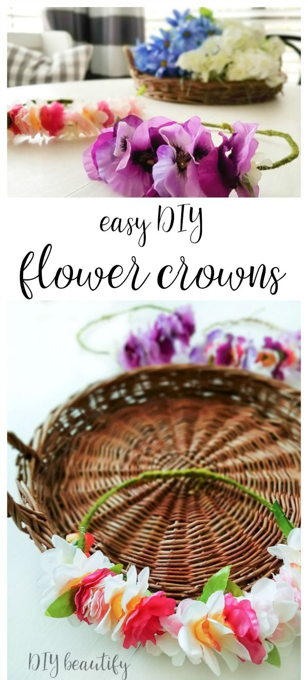 Easy diy flower crowns from dollar store materials floral crown easy diy flower crowns from dollar store materials floral crown crown and dollar stores izmirmasajfo