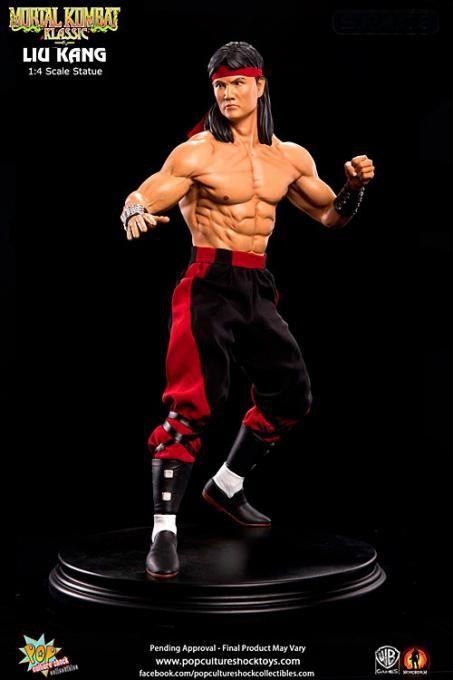 Estatua Liu Kang, Mortal Kombat 2. Pop Culture Shock, 48cm  Estatua de 48cm del personaje de Liu Kang, perteneciente al videojuego Mortal Kombat 3, creada por Pop Culture Shock.