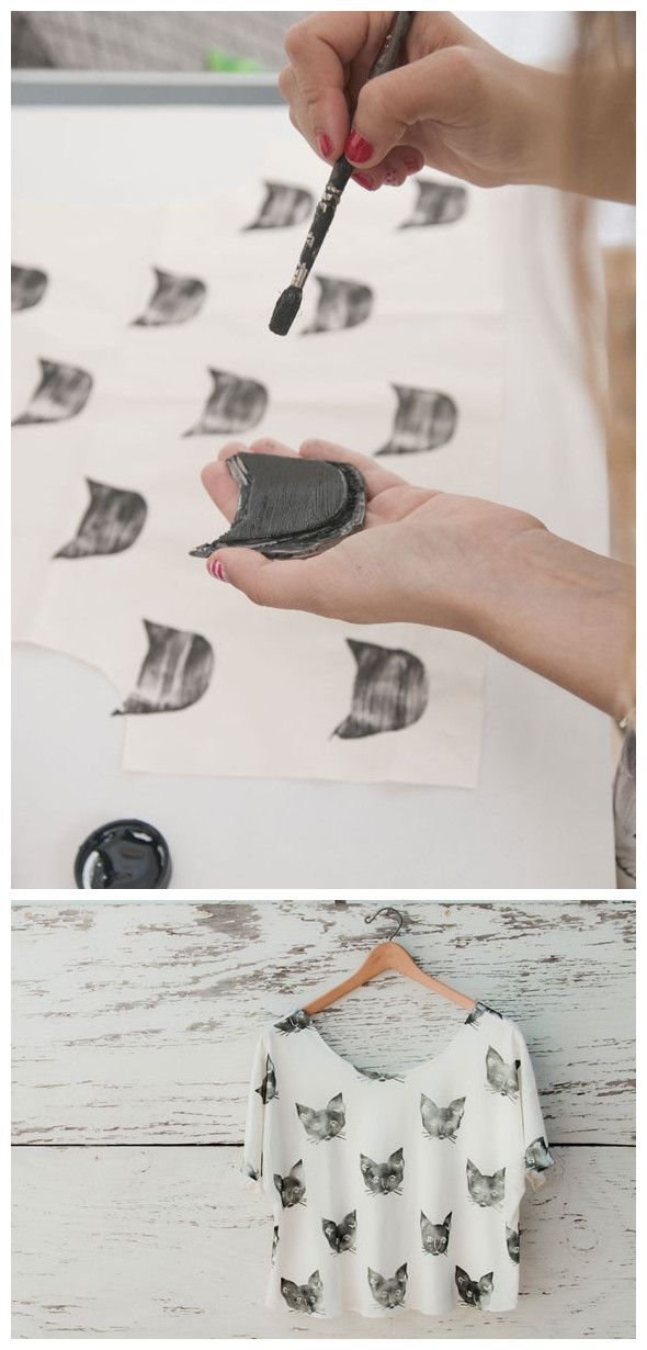 DIY: Handmade Stamp Cat Shirt