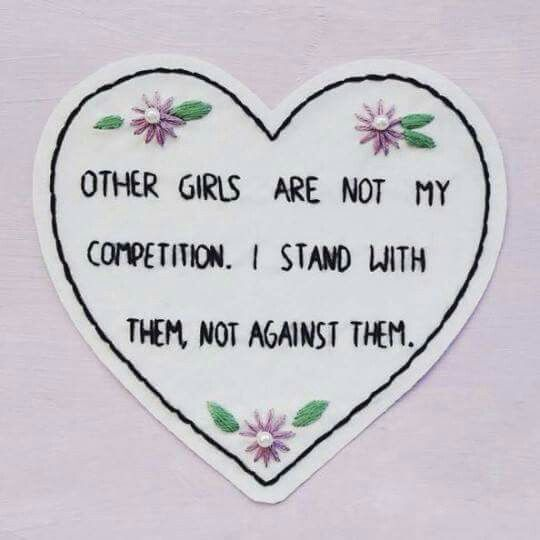 #girllove STOP GIRL HATE. I love this cute design and I love the message it bears even more. Girls = love. Christian Feminist