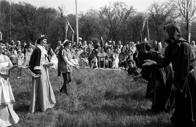 King Arthur Tournament, Bethany College, West Virginia, 1952.
